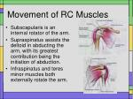 movement of rc muscles