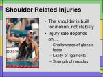 shoulder related injuries