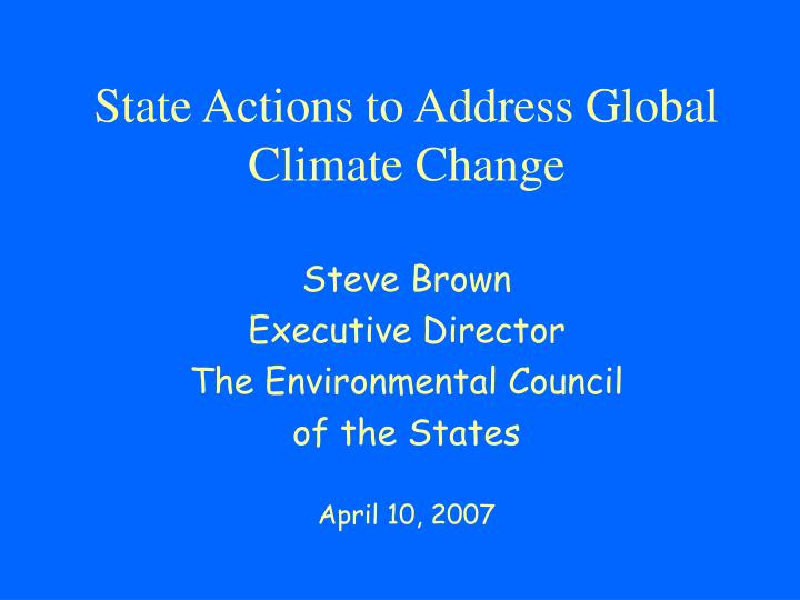 state actions to address global climate change n.