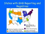 states with ghg reporting and registries