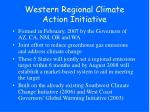 western regional climate action initiative