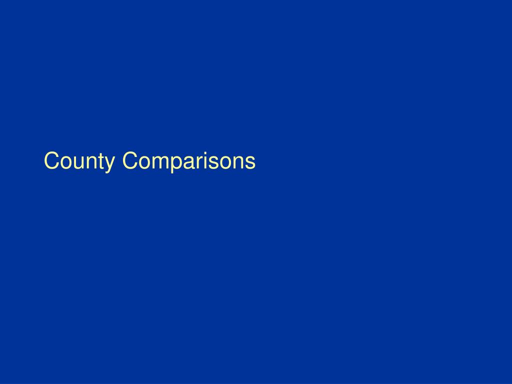 County Comparisons