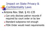 impact on state privacy confidentiality laws