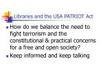 libraries and the usa patriot act