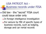 usa patriot act business records under fisa
