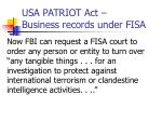usa patriot act business records under fisa1