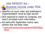 usa patriot act business records under fisa3
