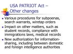 usa patriot act other changes