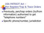 usa patriot act pen register trap trace orders1
