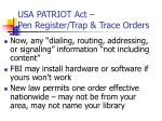 usa patriot act pen register trap trace orders2