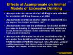 effects of acamprosate on animal models of excessive drinking