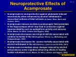 neuroprotective effects of acamprosate