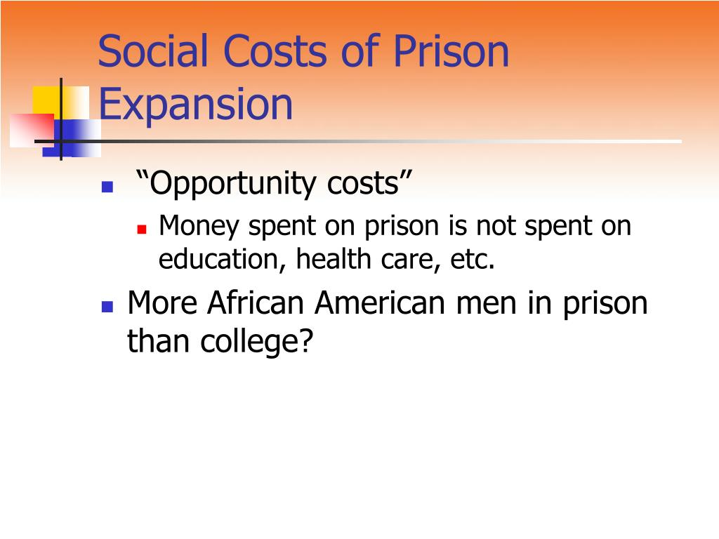 Social Costs of Prison Expansion