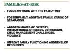 families at risk
