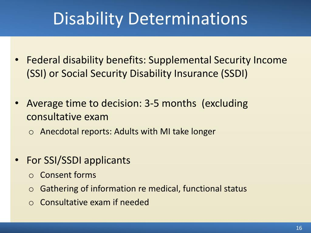 Disability Determinations