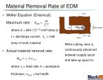 material removal rate of edm
