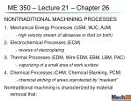 me 350 lecture 21 chapter 26