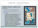 safe act practical notes