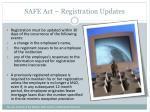 safe act registration updates
