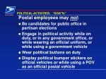 political activities don ts
