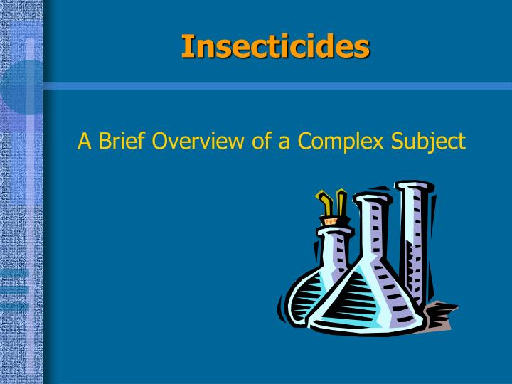 insecticides n.