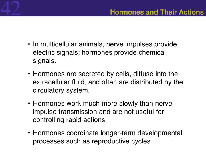 hormones and their actions n.