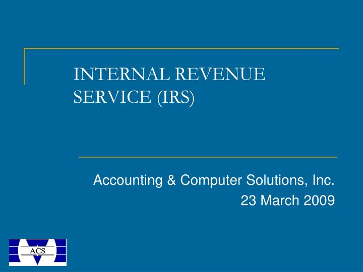 internal revenue service irs n.
