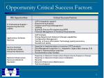 opportunity critical success factors