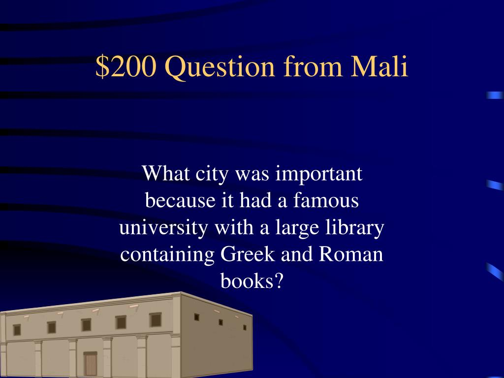 $200 Question from Mali