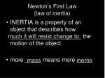 newton s first law law of inertia2