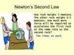 newton s second law2