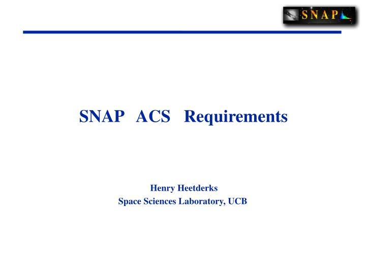 snap acs requirements n.