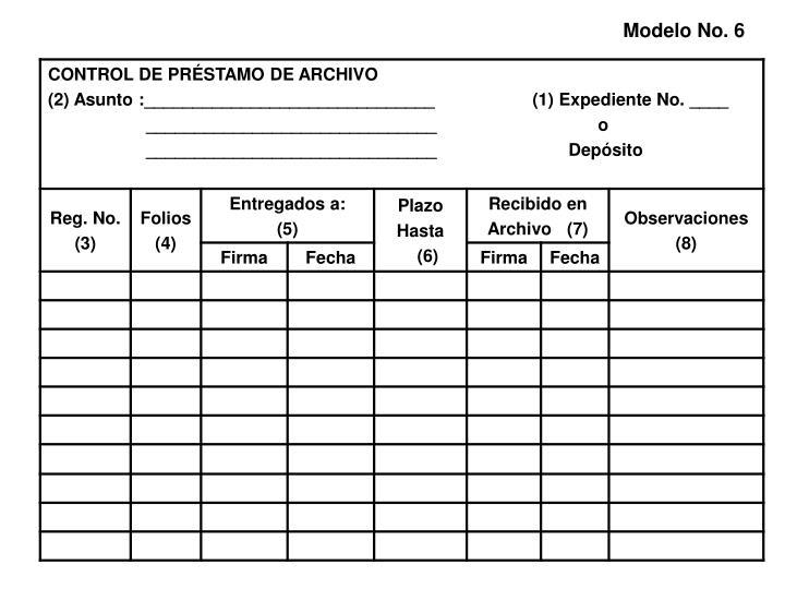 Modelo No. 6