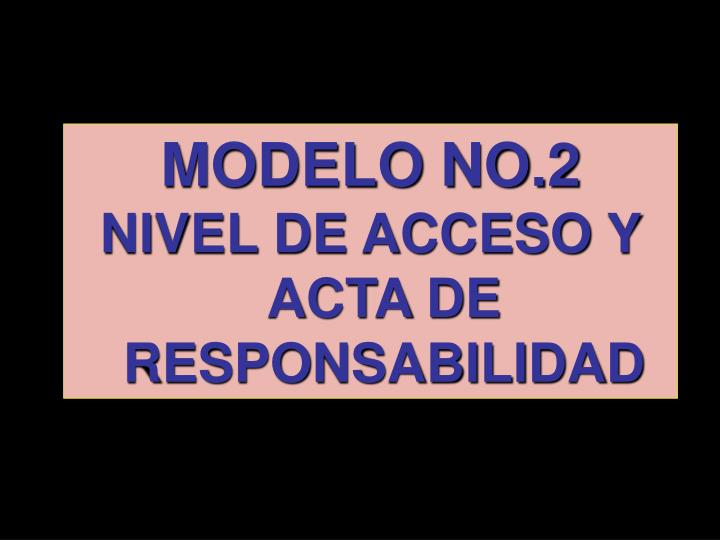 MODELO NO.2
