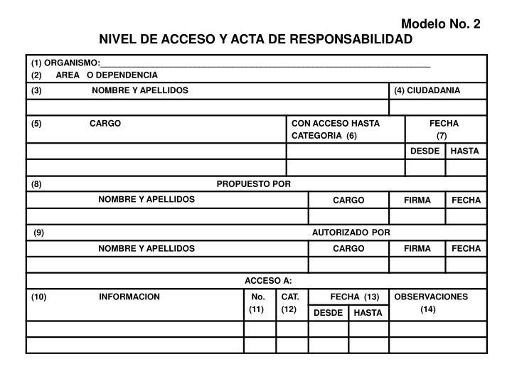 Modelo No. 2