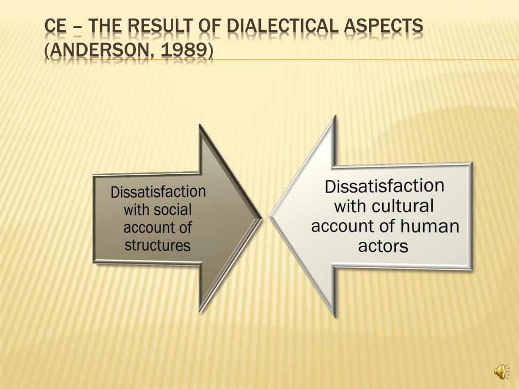 CE – The result of dialectical aspects