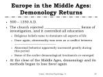 europe in the middle ages demonology returns