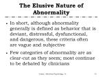 the elusive nature of abnormality2