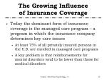 the growing influence of insurance coverage