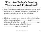 what are today s leading theories and professions2