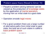 problem space theory newell simon 72