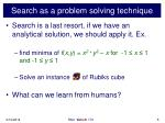 search as a problem solving technique