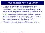 tree search ex 4 queens