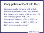 conjugation of c o with c c