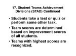 17 student teams achievement divisions stad continued