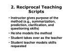 2 reciprocal teaching scripts