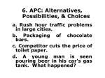 6 apc alternatives possibilities choices