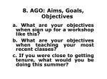 8 ago aims goals objectives