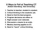 8 ways to fail at teaching ct robert sternberg yale university