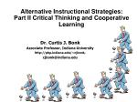 alternative instructional strategies part ii critical thinking and cooperative learning